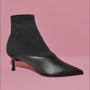 NEW Mercedes Castillo Leather Pointed Sock Booties